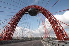 Free Modern Bridge On Cloudy Sky Royalty Free Stock Photo - 5993005