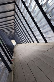 Tunnel From A Metal Structure Stock Image