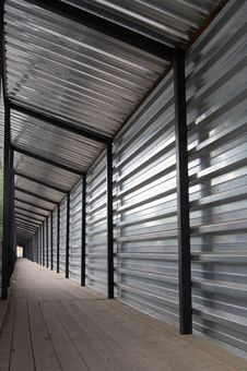 Free Tunnel From A Metal Structure Stock Image - 5993331