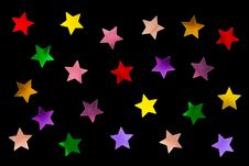 Free Collection Of Multicolored Stars Royalty Free Stock Photography - 5993367