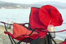 Free The Red Chairs With Red Hat Stock Images - 5993674