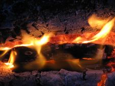 Free Years(summer) Fire In The Evening Royalty Free Stock Photo - 5993855