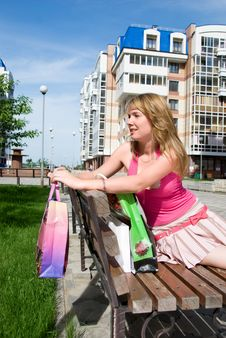 Free Girl With Shopping Bags Stock Photography - 5995912