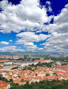 The Aerial View Of Prague Stock Photography