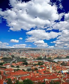 Free The Aerial View Of Prague Royalty Free Stock Photo - 5996135