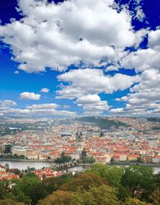 Free The Aerial View Of Prague Stock Image - 5996151