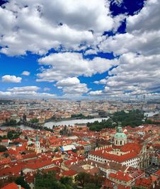 Free The Aerial View Of Prague Stock Photo - 5996200