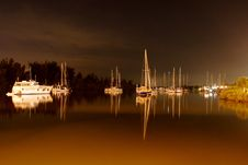 Free Boats On The Water At Dusk Stock Image - 5996291