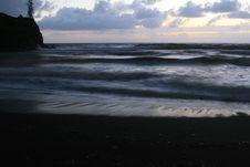 Free Black Sand Sunrise Stock Photo - 5996970