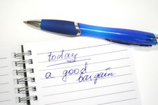 Free Blue Pen And Note Book Royalty Free Stock Image - 5997686