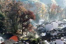 Free Chinese Village Royalty Free Stock Image - 5997736