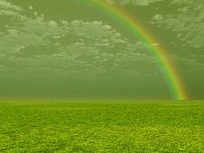 Beautiful Rainbow Stock Photography