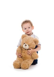 Free Child With Bear Stock Photo - 5997940