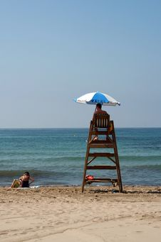 Free Life Guard At Work Royalty Free Stock Photo - 5998015