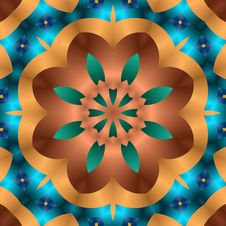 Floral Copper Cut Out Royalty Free Stock Photography