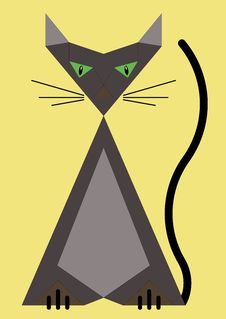 Free Geometric Cat Royalty Free Stock Photo - 5999965