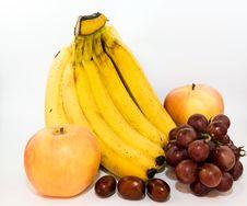 Bananas Apples Grapes And Dates Royalty Free Stock Photo