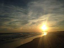Free Sunset On Lido Beach, Long Island. Stock Photo - 59958370