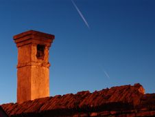 Free Old Brick Chimney Stock Photography - 60502