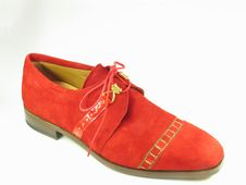 Free Red Suede Shoe Royalty Free Stock Image - 62106
