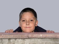 Free Boy Behind The Fence Stock Image - 63931