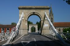 Free Marlow Suspension Bridge Royalty Free Stock Photo - 65315