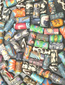 Free Multi-coloured Beads Royalty Free Stock Image - 65916