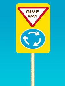 Free Give Way Sign Board Stock Image - 66011