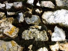 Free Old Stone Wall Closeup Stock Photography - 603672