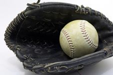Free Ball In Glove Royalty Free Stock Photography - 603687
