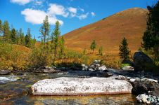 Free River In The Mountais. Royalty Free Stock Photography - 604127