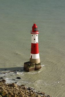 Free Beachy Head Lighthouse Royalty Free Stock Photography - 604467