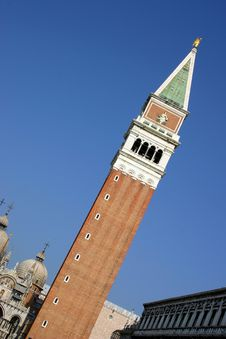 Free Campanile Tower, Venice Royalty Free Stock Photo - 604515