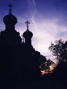 Church Silhouette Stock Image