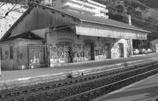 Free GHOST TRAIN STATION Stock Images - 605704