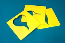 Free Yellow Shapes On Green Stock Photography - 608102