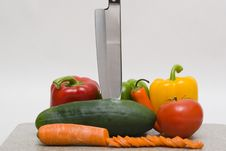 Free Vegetables With A Knife Stock Photos - 608893