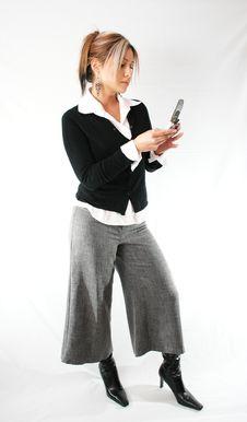 Free Women Using Cellphone Stock Photo - 609250