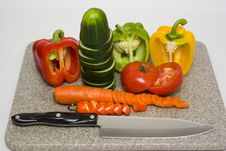Free Cut Vegetables Royalty Free Stock Photo - 609255