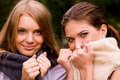 Free Portrait Of Two Lovely Girlfriends Royalty Free Stock Photo - 6001105