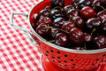 Free Fresh Cherries In Colander Royalty Free Stock Photo - 6004495