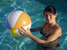 Free The Girl With A Ball Stock Images - 6000254