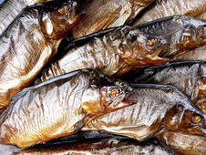 Smoked Trouts Royalty Free Stock Photography