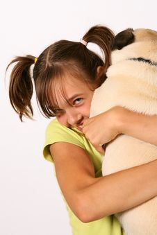 Free Girl With Pup Royalty Free Stock Images - 6000699