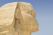 Close-up Of The Sphinx Located In Giza Cairo Egypt Royalty Free Stock Images