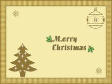 Free Merry Christmas 3 Royalty Free Stock Photo - 6000735