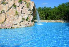 Pool Waterfall Royalty Free Stock Photo