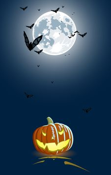 Free Vector Illustration Of An Evil Pumpkin Stock Photo - 6001570