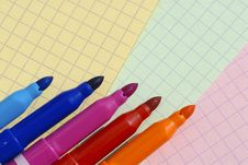 Free Felt Pens Royalty Free Stock Images - 6001799