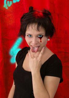 Free Goth Or Emo Girl Royalty Free Stock Photos - 6002098